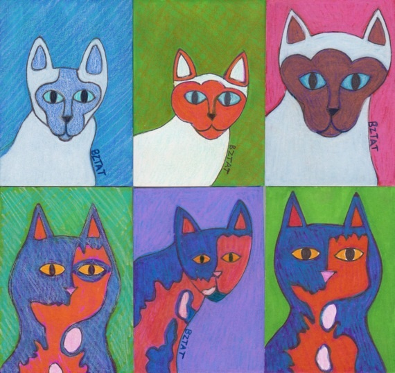 ACEO cat drawings by BZTAT