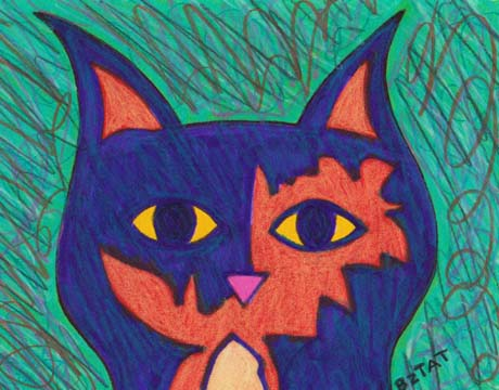 Tortoise Shell Cat drawing by BZTAT