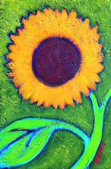 """Sunflower"" painting by BZTAT"