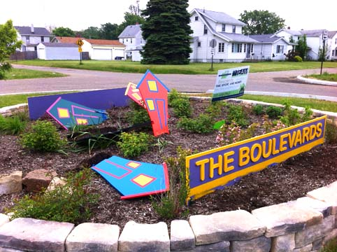 Canton Boulevards Neighborhood Public Art Vandalism