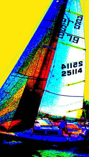 Sailboat painting BZTAT