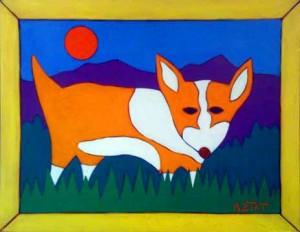 Corgi Pet Portrait Painting by BZTAT