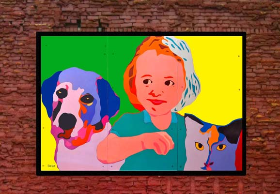 """""""Safe Animals Safe Kids"""" mural in Canton, OH"""