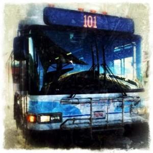 City bus public transit digital art BZTAT