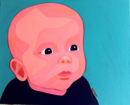 Child custom pop art portrait