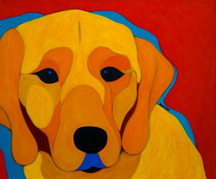 Labrador Retriever Dog Portrait Painting by BZTAT