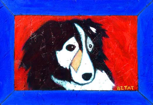Sheltie dog portrait painting by BZTAT