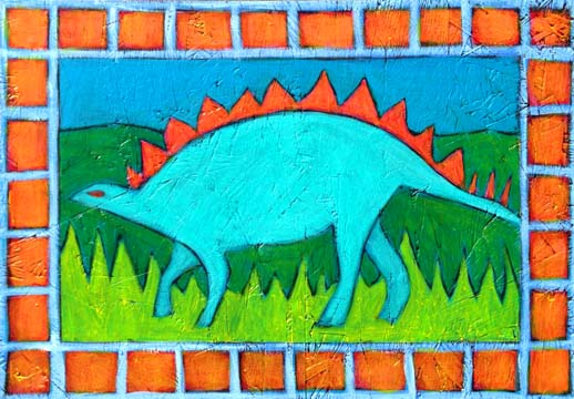 Stegosaurus painting by BZTAT