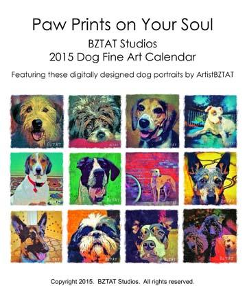 Order your 2015 BZTAT Studios Dog Art Calendar