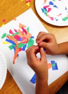 Arts-integration-preschool-paper-trees