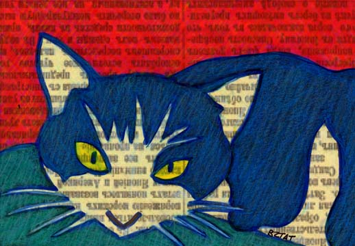Above the fold: pet drawings on a newstype image.