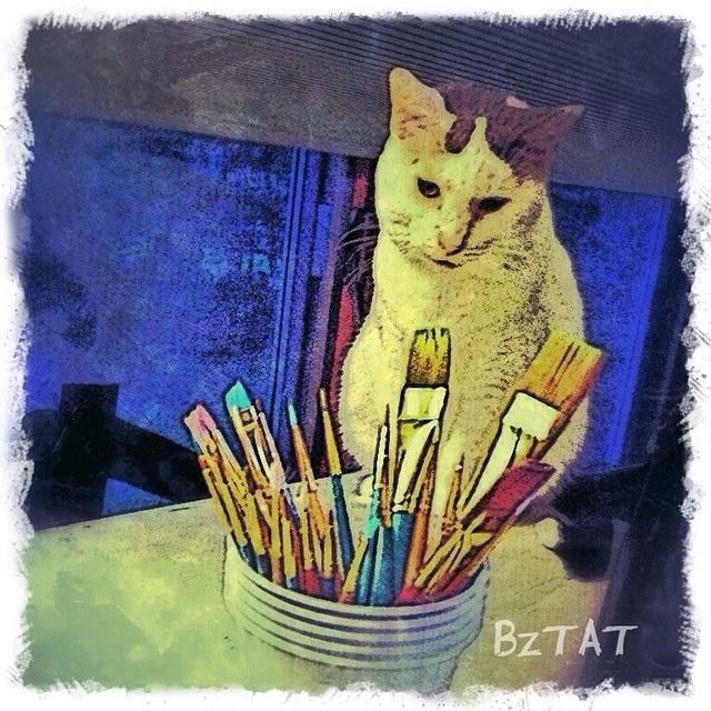 12-Digital-pet-portrait-cat-art-calendar-BZTAT