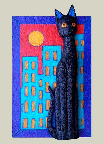 """Black Cat in the City"""