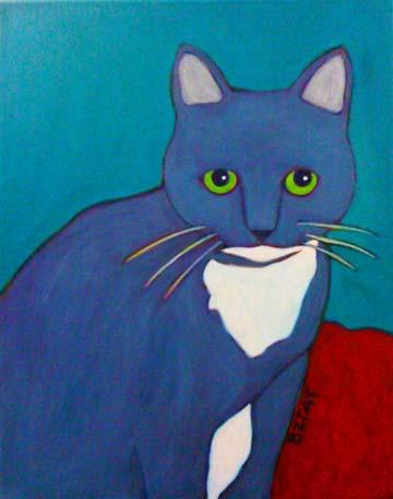 Sasha - Premiere Custom Pet Portrait Painting by BZTAT