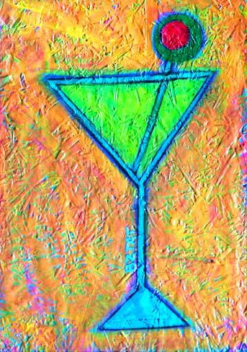 Martini Glass Painting #3