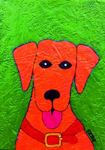 """SOLD  """"Red Orange Dog"""""""