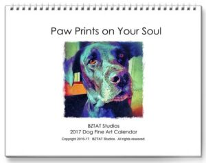 2017 Dog Fine Art Wall Calendar BZTAT Studios