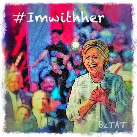 Hillary Clinton #imwithher art by artist BZTAT