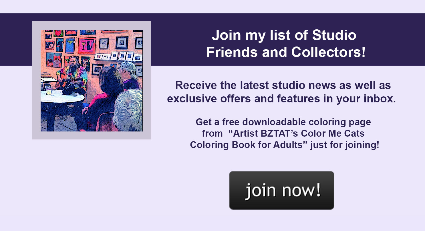 Join my list of Studio Friends and Collectors