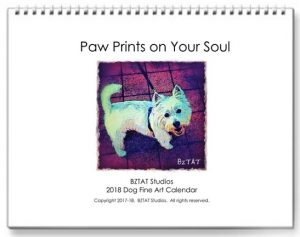 2018 Fine Art Dog Calendar by Artist BZTAT