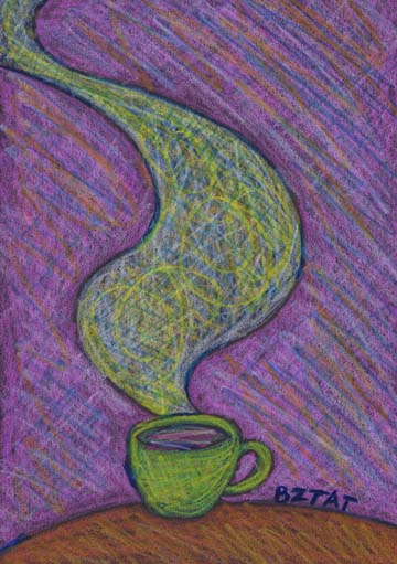 """""""Aromatic"""" Drawing of a mug of coffee by artist BZTAT"""